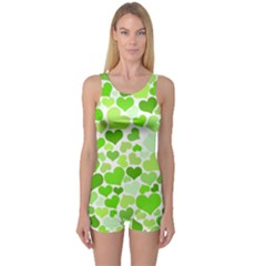 Heart 2014 0909 Women s Boyleg One Piece Swimsuits