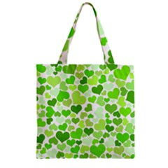 Heart 2014 0909 Zipper Grocery Tote Bags
