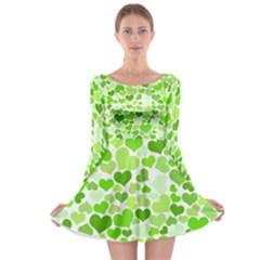 Heart 2014 0909 Long Sleeve Skater Dress