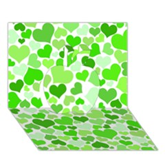 Heart 2014 0910 Apple 3D Greeting Card (7x5)