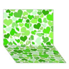 Heart 2014 0910 Clover 3d Greeting Card (7x5)