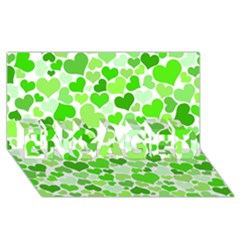 Heart 2014 0910 ENGAGED 3D Greeting Card (8x4)