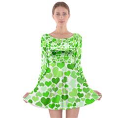Heart 2014 0910 Long Sleeve Skater Dress