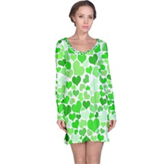 Heart 2014 0911 Long Sleeve Nightdresses