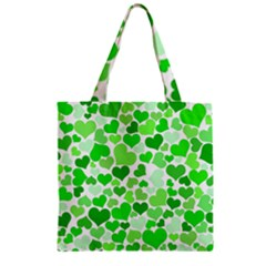 Heart 2014 0911 Zipper Grocery Tote Bags