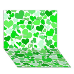 Heart 2014 0912 Clover 3D Greeting Card (7x5)