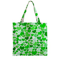 Heart 2014 0912 Zipper Grocery Tote Bags
