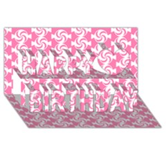 Cute Candy Illustration Pattern For Kids And Kids At Heart Happy Birthday 3D Greeting Card (8x4)