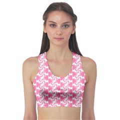 Cute Candy Illustration Pattern For Kids And Kids At Heart Sports Bra