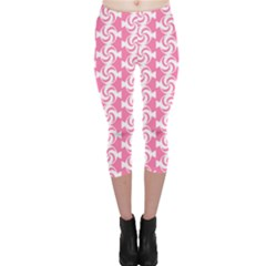 Cute Candy Illustration Pattern For Kids And Kids At Heart Capri Leggings
