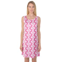 Cute Candy Illustration Pattern For Kids And Kids At Heart Sleeveless Satin Nightdresses