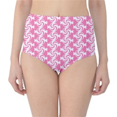 Cute Candy Illustration Pattern For Kids And Kids At Heart High Waist Bikini Bottoms