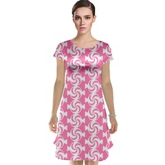 Cute Candy Illustration Pattern For Kids And Kids At Heart Cap Sleeve Nightdresses