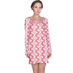 Candy Illustration Pattern  Long Sleeve Nightdresses