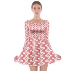 Candy Illustration Pattern  Long Sleeve Skater Dress
