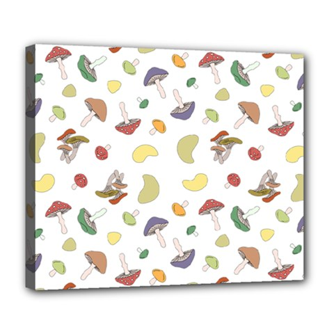 Mushrooms Pattern Deluxe Canvas 24  X 20