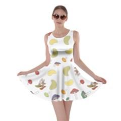 Mushrooms Pattern Skater Dresses