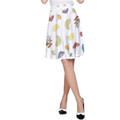 Mushrooms Pattern A Line Skirts