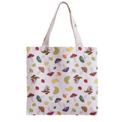 Mushrooms Pattern Zipper Grocery Tote Bags