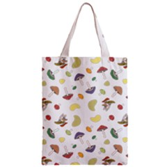 Mushrooms Pattern Zipper Classic Tote Bags