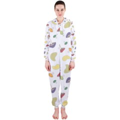 Mushrooms Pattern Hooded Jumpsuit (Ladies)
