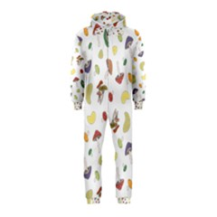 Mushrooms Pattern Hooded Jumpsuit (kids)