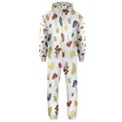 Mushrooms Pattern Hooded Jumpsuit (Men)