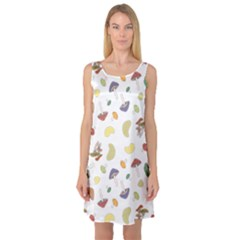 Mushrooms Pattern Sleeveless Satin Nightdresses