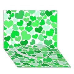 Heart 2014 0913 Heart Bottom 3D Greeting Card (7x5)