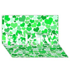 Heart 2014 0913 PARTY 3D Greeting Card (8x4)