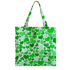 Heart 2014 0913 Zipper Grocery Tote Bags