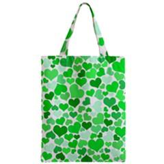Heart 2014 0913 Zipper Classic Tote Bags