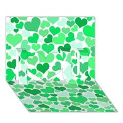 Heart 2014 0914 I Love You 3d Greeting Card (7x5)