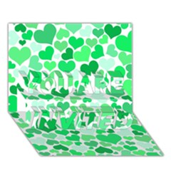 Heart 2014 0914 You Are Invited 3d Greeting Card (7x5)