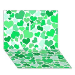 Heart 2014 0914 Apple 3D Greeting Card (7x5)
