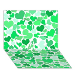 Heart 2014 0914 Clover 3D Greeting Card (7x5)
