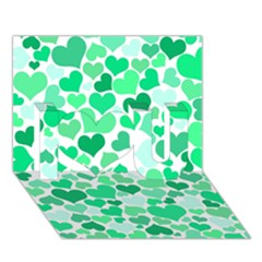 Heart 2014 0915 I Love You 3d Greeting Card (7x5)