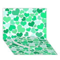 Heart 2014 0915 Heart Bottom 3D Greeting Card (7x5)