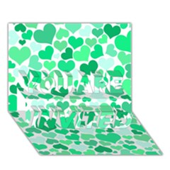 Heart 2014 0915 YOU ARE INVITED 3D Greeting Card (7x5)