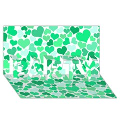 Heart 2014 0915 PARTY 3D Greeting Card (8x4)