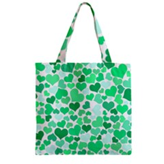 Heart 2014 0915 Zipper Grocery Tote Bags