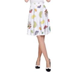 Mushrooms 002b A Line Skirts
