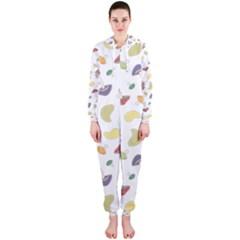 Mushrooms 002b Hooded Jumpsuit (ladies)