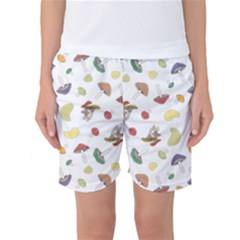 Mushrooms 002b Women s Basketball Shorts