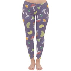 Mushrooms Winter Leggings