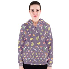 Mushrooms Women s Zipper Hoodies