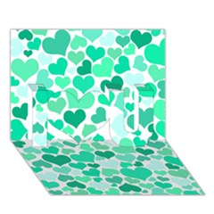 Heart 2014 0916 I Love You 3D Greeting Card (7x5)