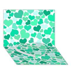 Heart 2014 0916 Heart Bottom 3D Greeting Card (7x5)
