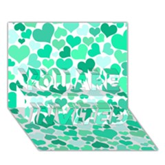 Heart 2014 0916 You Are Invited 3d Greeting Card (7x5)