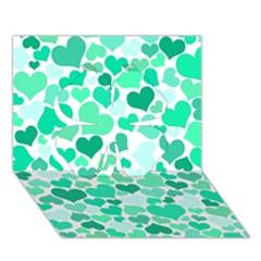 Heart 2014 0916 Clover 3D Greeting Card (7x5)